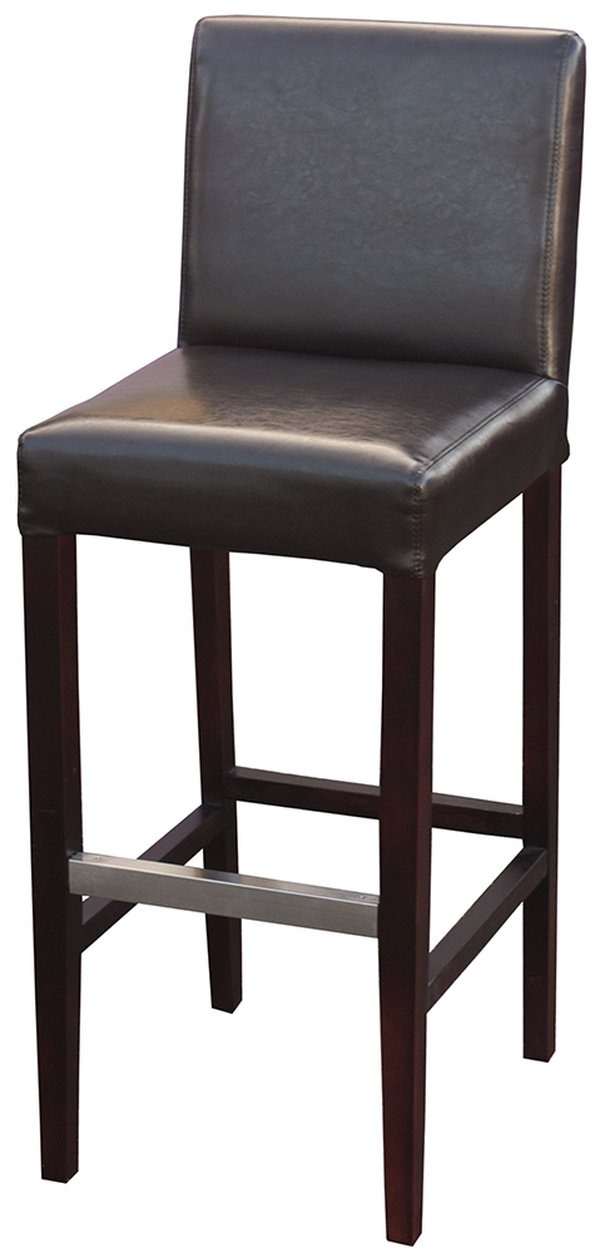 Brown Real Leather Mayfair Bar Stools