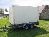 Hirth LA12000 covered trailer
