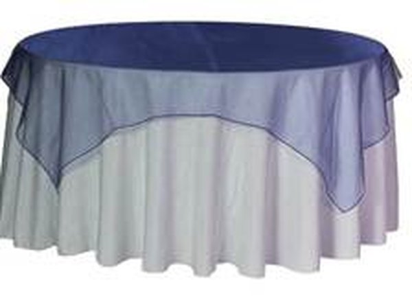 Navy Blue diamante organza overlays