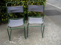1950s metal chairs