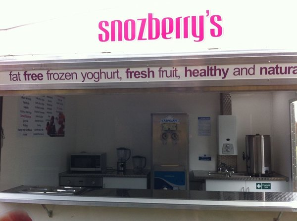 Frozen Yoghurt Ice Cream Hot Dessert Trailer