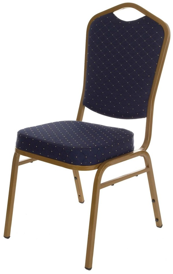 Blue fleck banqueting chair