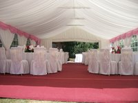 dressed gala tent