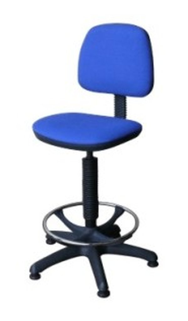 9x Swivel Reception Desk Stools with Height Adjustment and Castors