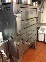 Double deck bakers pride pizza oven