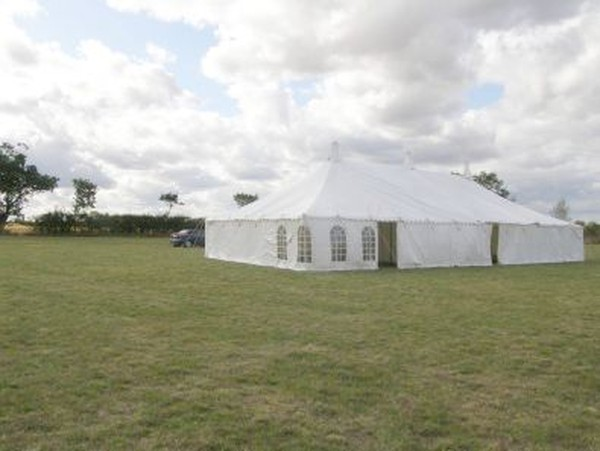 50' x 60' traditional canvas marquee