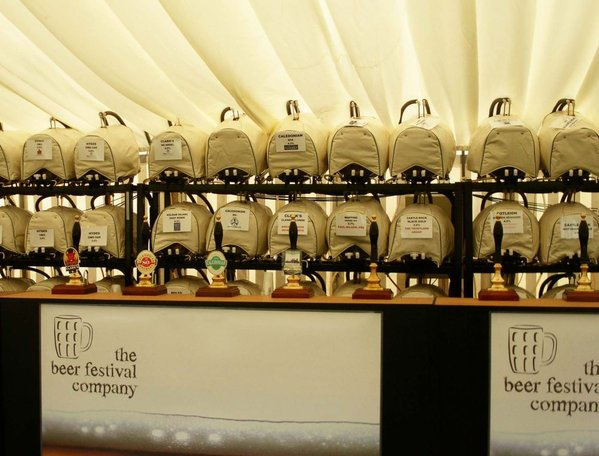 Beer festival bar equipment