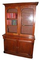 Victorian Mahogany Glass Top Bookcase