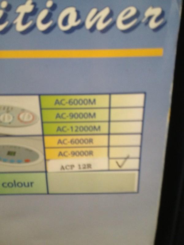 ACP 12 R Portable air conditioner