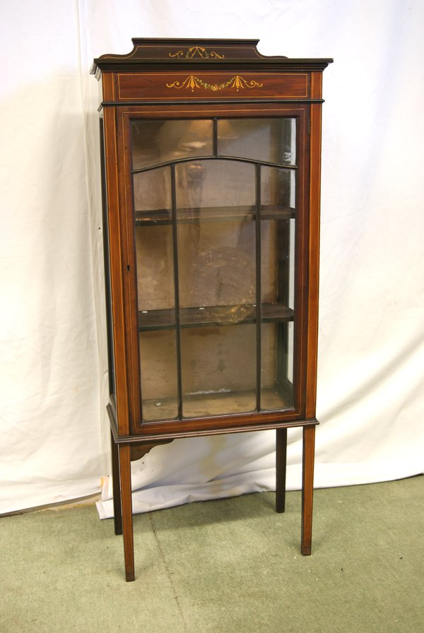 Small Mahogany Glazed Astrical Display Cabinet