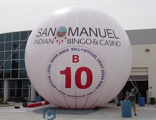 Logo printed on  Giant Inflatable Sphere
