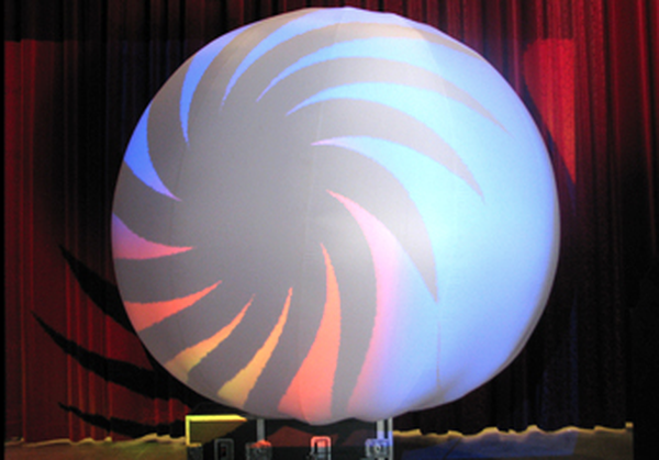 Inflatable Projection Sphere for events