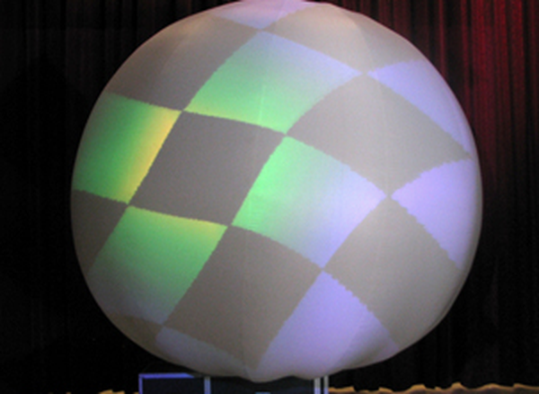 Inflatable Videofilm Projection Sphere