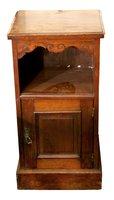 Edwardian Walnut Bedside Cabinet