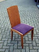 Purple and wood dining chair