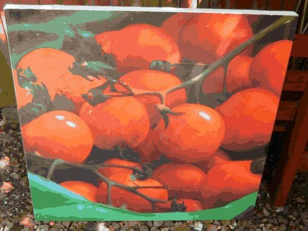 Vine tomatoes picture for deli, cafe, restaurant, bistro