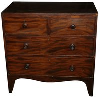 Victorian Mahogany 2 Over 2 Chest of Drawers