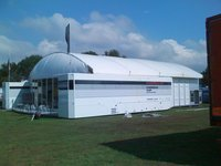 17m x 20m marquee with inflatable roof