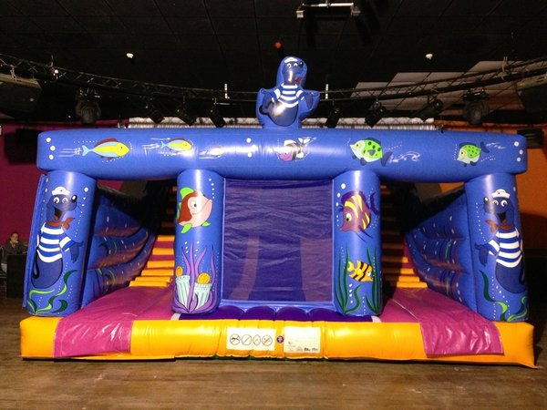 inflatable sea themed bouncy castle