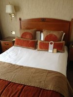 Double bed with mattress and headboard