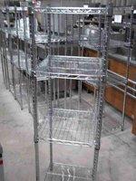 Kitchen wire rack with adjustable shelfs