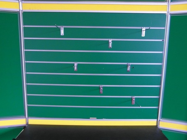 Exhibition boards with hooks