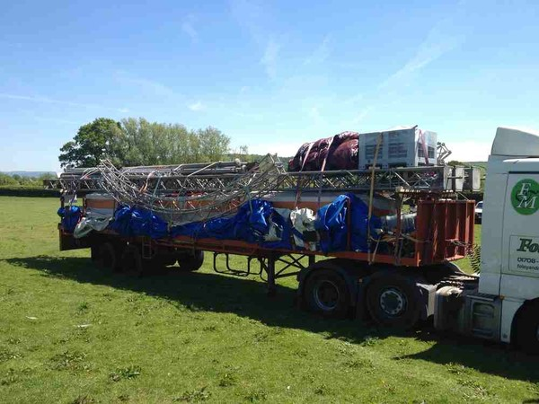 Ex Hire Circus tent on a trailer