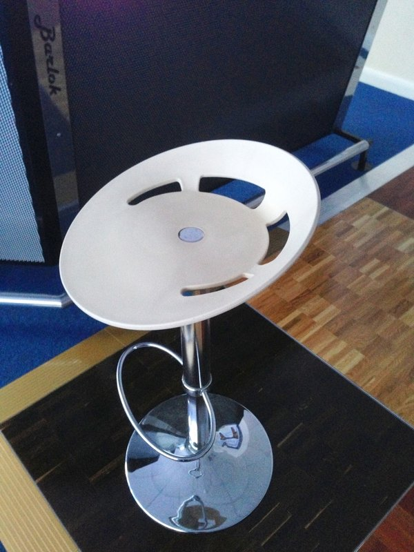 Chrome bar stool
