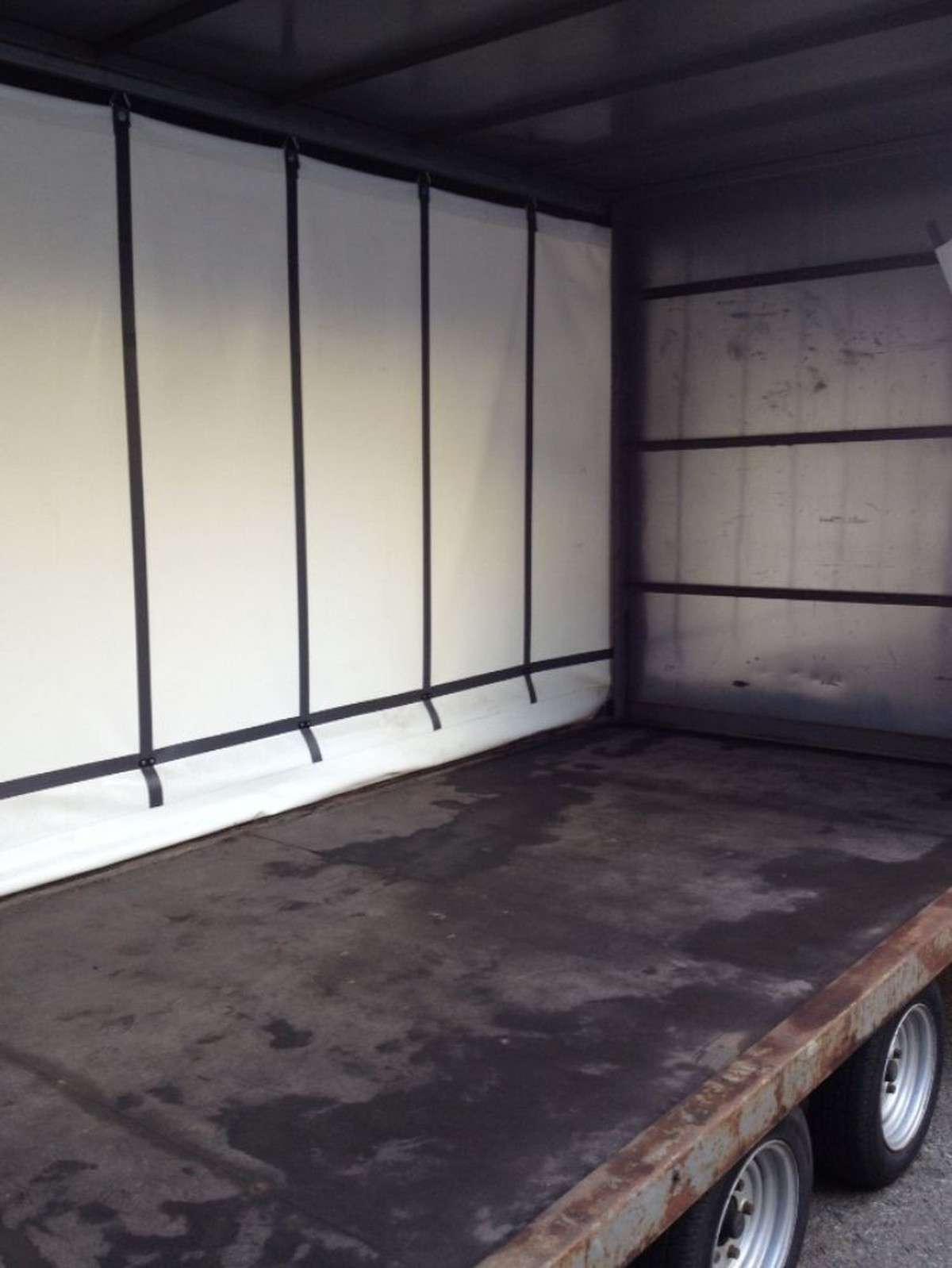 Inside Curtain Side Trailer