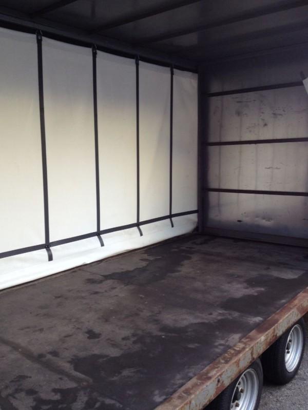Inside curtain side trailer
