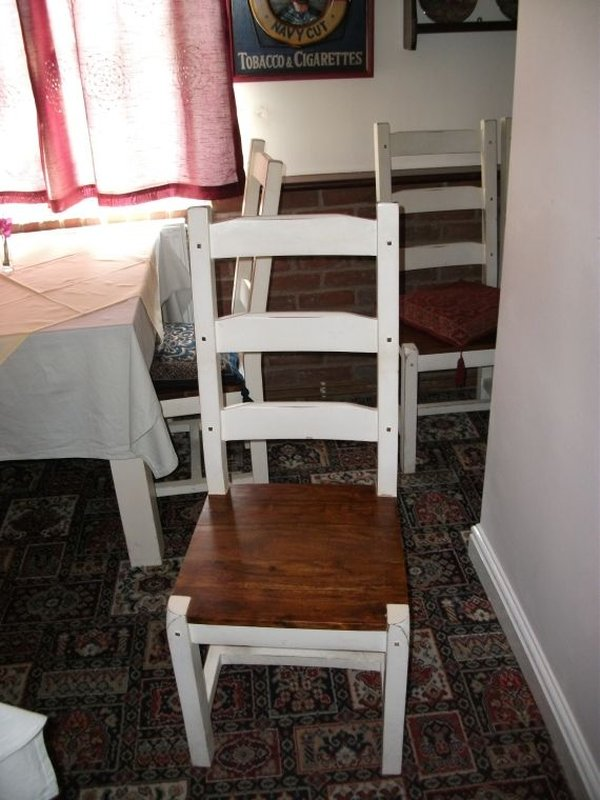 White ladder backed chairs for sale