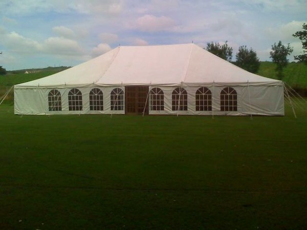 40ft x 100ft traditional marquee