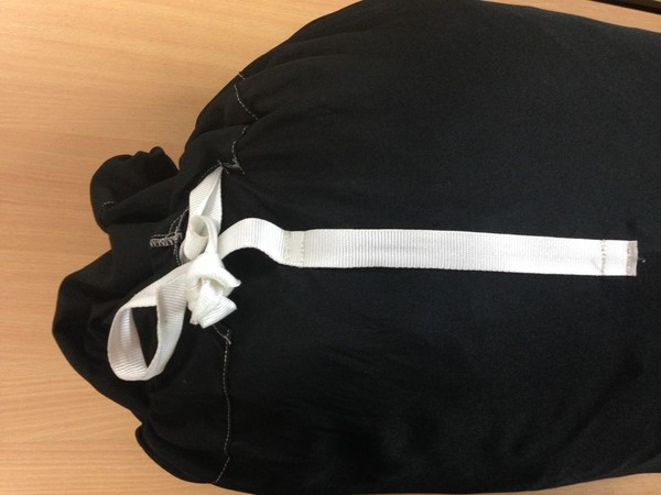 Laundry bag with tie top