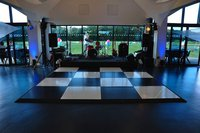 4m x 4m contemporary black and white dance floor