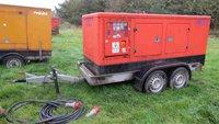 100kva generator on a trailer