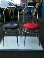 New chrome Cafe And Coffee Shop Chairs