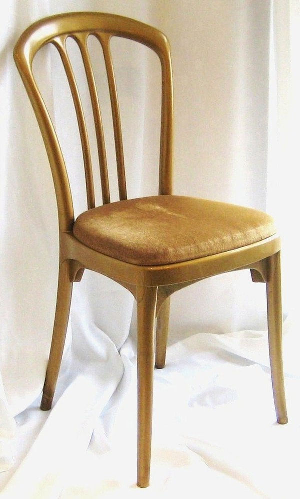 Gold plastic banqueting chair