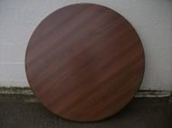 Wood Effect Round Laminated Table Tops