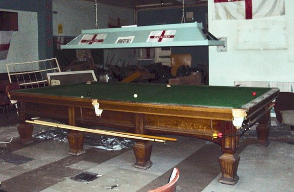 solid oak snooker table