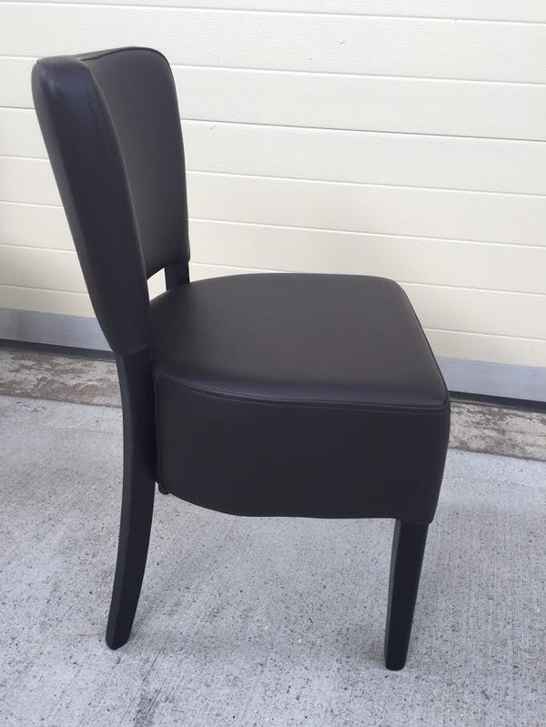 Black Faux Leather chairs for sale