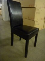 50x Brand New Faux Leather Dining Chairs Black/Brown - Cambridgeshire