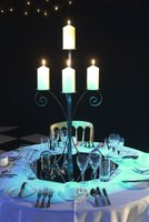 gothic black candelabras for table decor