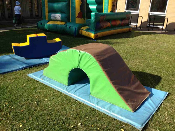 Portable soft play area
