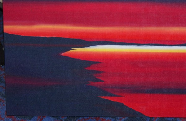 atmospheric black and red canvas