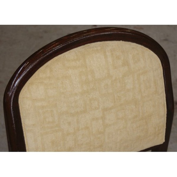 Buy Wenge Framed Side Chair Yellow Upholstery