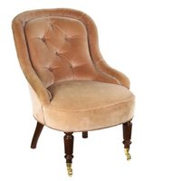 Victorian Antique Salon Bedroom Ladies Boudoir Nursing Tub Chair
