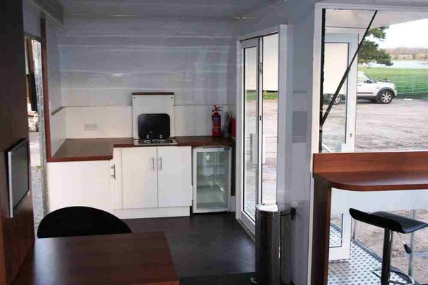 Exhibition trailer with kitchen for sale
