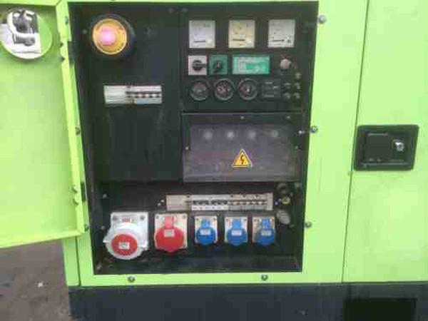 Electric generator controller panel