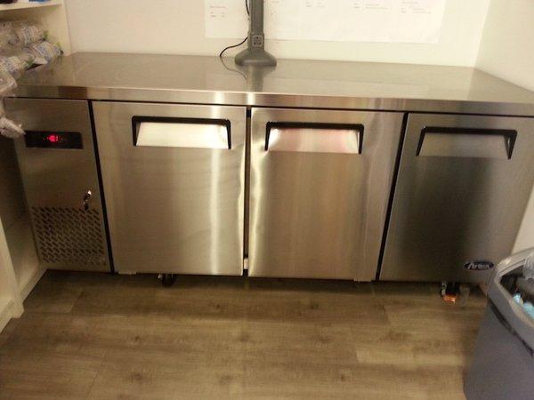Astosa 3 Door Prep Counter Freezer