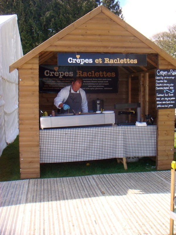 Crepe Hut / Chalet complete with Crepe and Raclettes Signage and Equipment